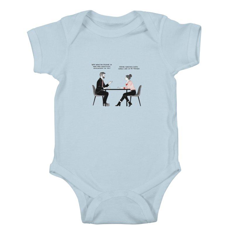 Period. Kids Baby Bodysuit by Julia Bernhard