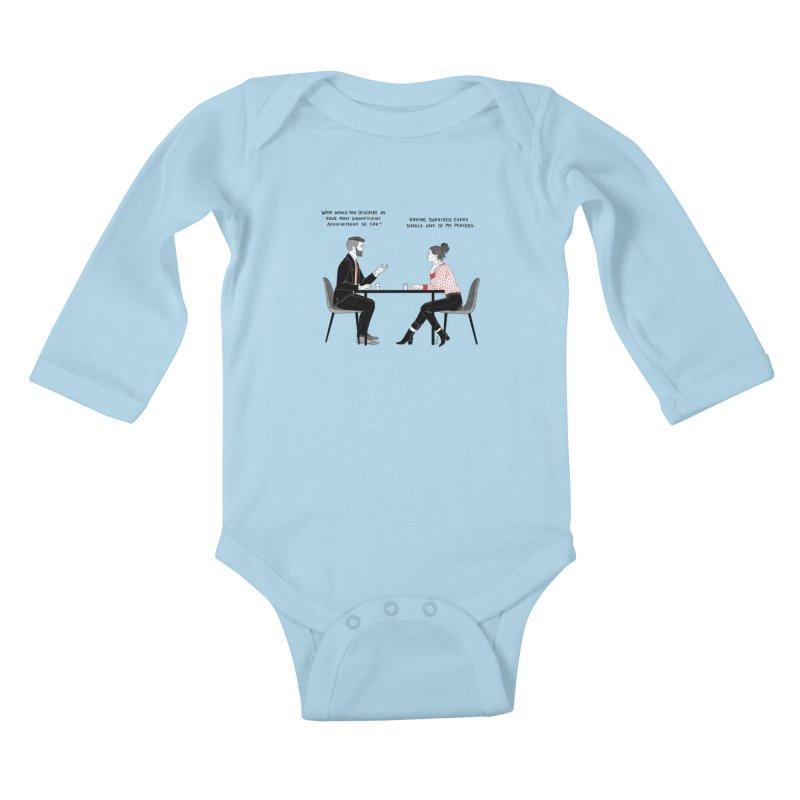 Period. Kids Baby Longsleeve Bodysuit by Julia Bernhard