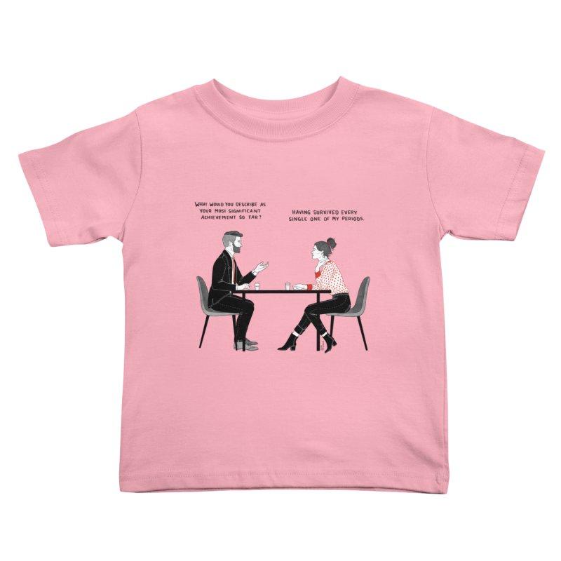 Period. Kids Toddler T-Shirt by Julia Bernhard