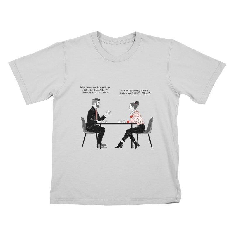 Period. Kids T-Shirt by Julia Bernhard