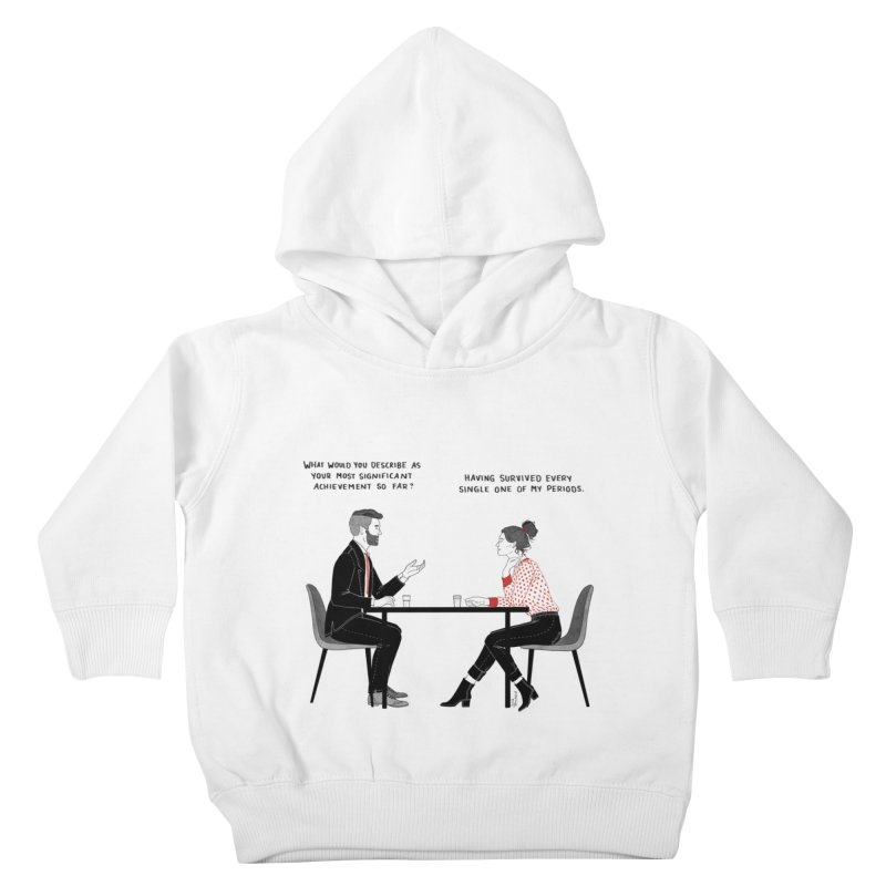 Period. Kids Toddler Pullover Hoody by Julia Bernhard