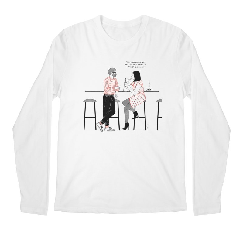 Friday Night Men's Regular Longsleeve T-Shirt by Julia Bernhard