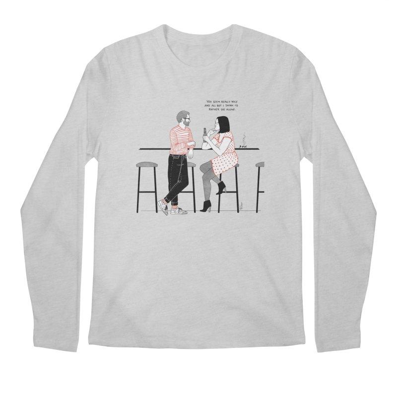 Friday Night Men's Regular Longsleeve T-Shirt by Julia Bernhard