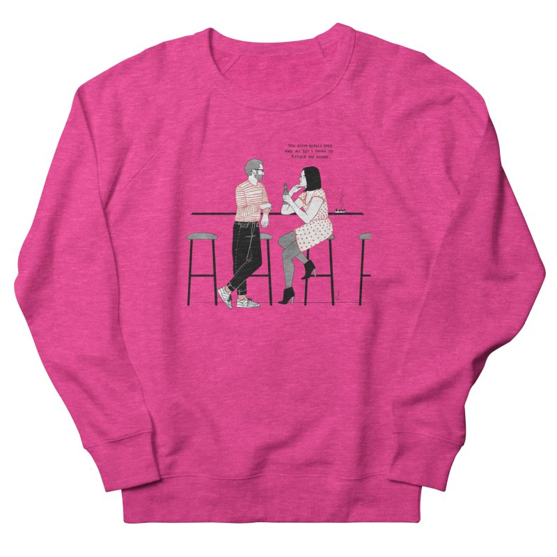 Friday Night Men's French Terry Sweatshirt by Julia Bernhard