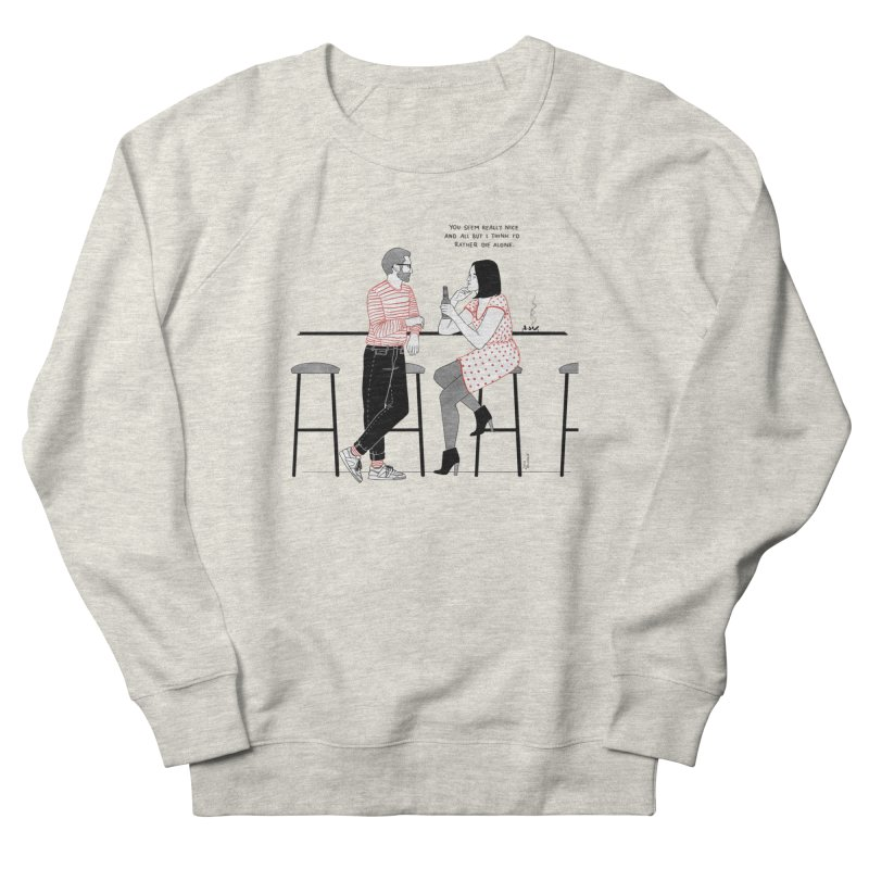 Friday Night Men's French Terry Sweatshirt by Julia Bernhard
