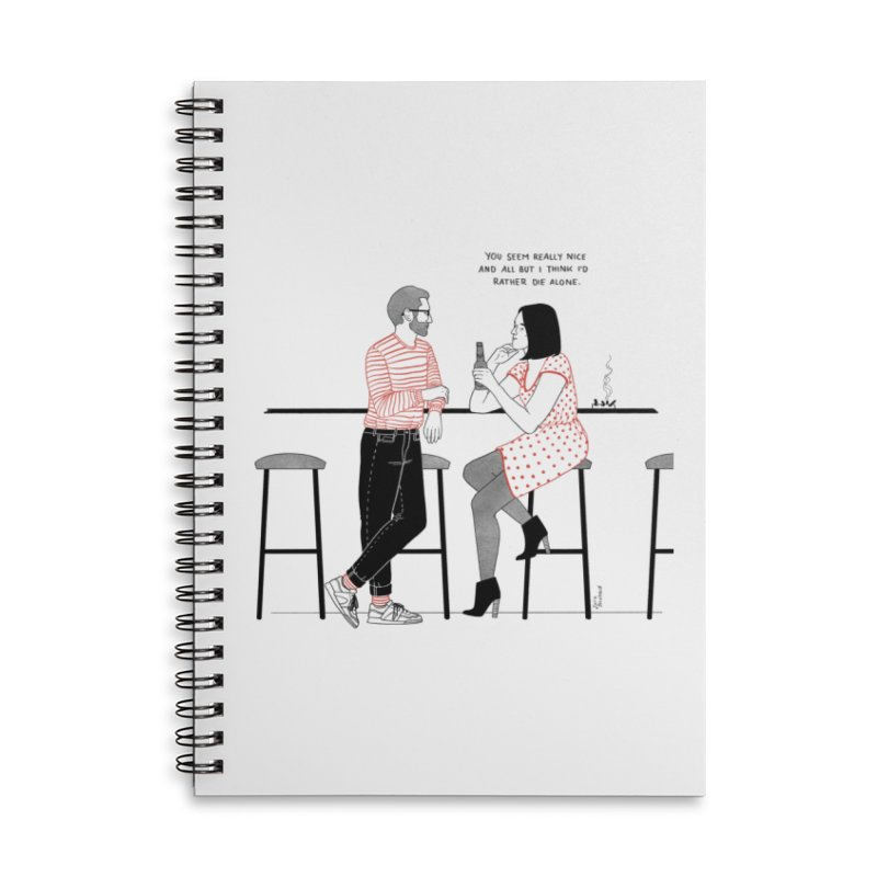 Friday Night Accessories Lined Spiral Notebook by Julia Bernhard