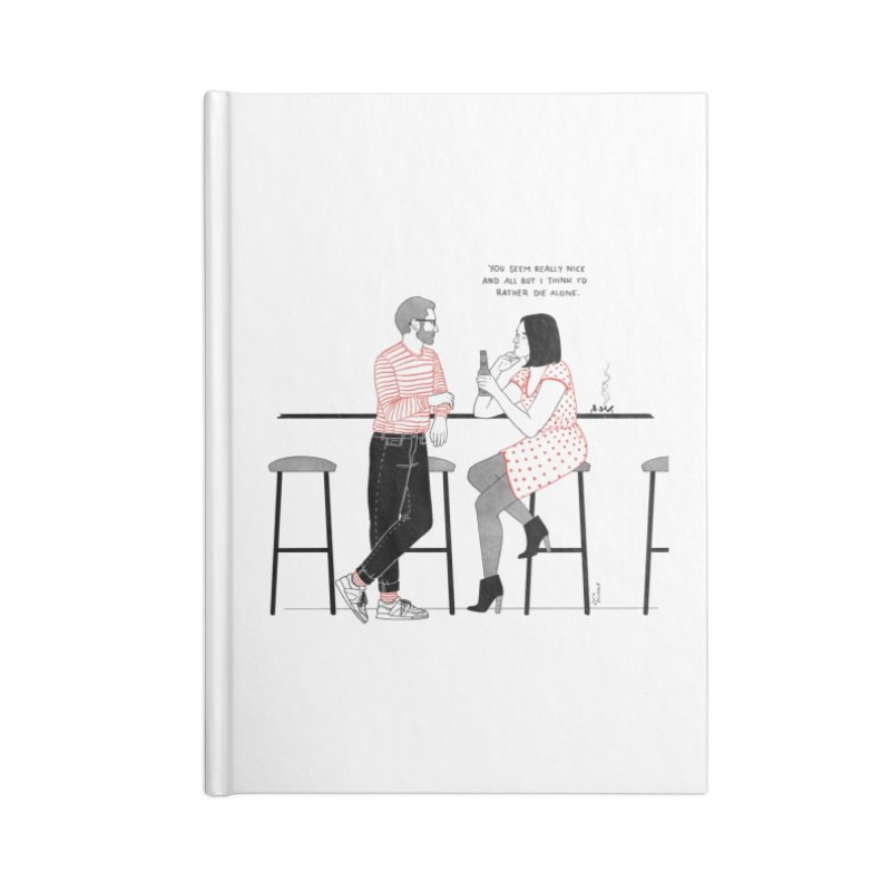 Friday Night Accessories Lined Journal Notebook by Julia Bernhard