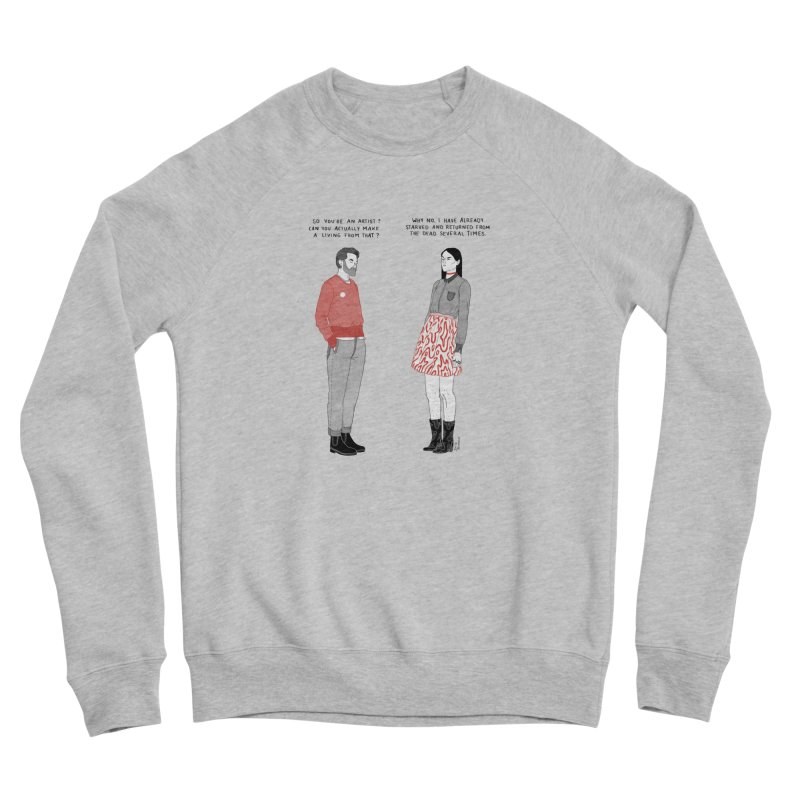 Starving Artist Men's Sponge Fleece Sweatshirt by Julia Bernhard