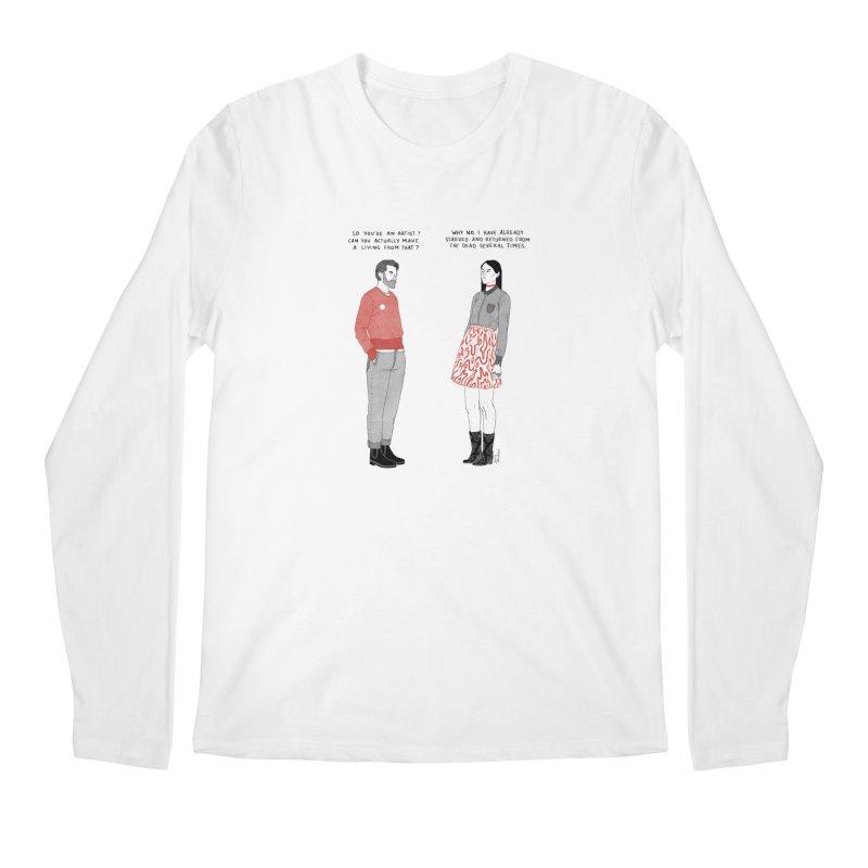 Starving Artist Men's Regular Longsleeve T-Shirt by Julia Bernhard