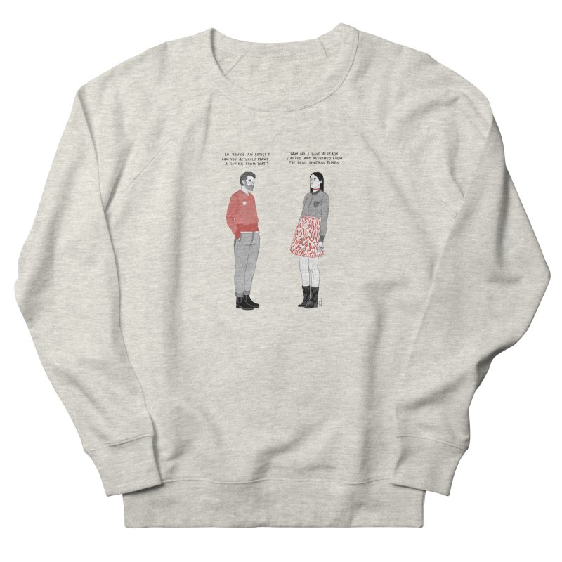 Starving Artist Men's French Terry Sweatshirt by Julia Bernhard
