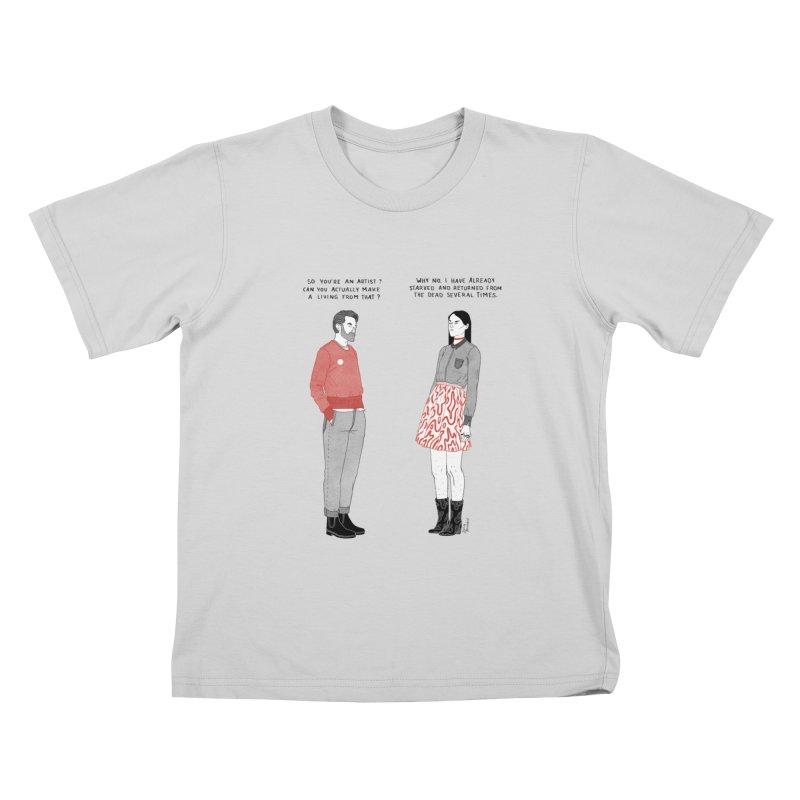 Starving Artist Kids T-Shirt by Julia Bernhard
