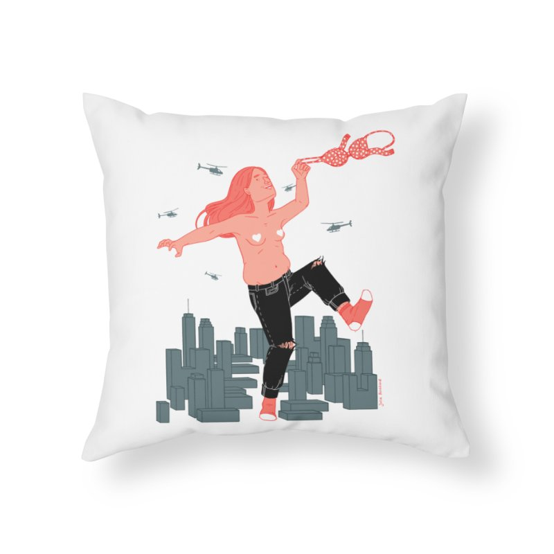 Freedom Home Throw Pillow by Julia Bernhard