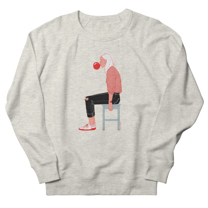 Bubblegum Girl Women's French Terry Sweatshirt by Julia Bernhard