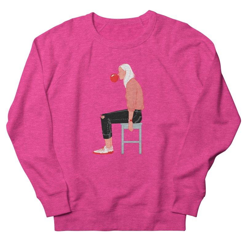 Bubblegum Girl Men's French Terry Sweatshirt by Julia Bernhard