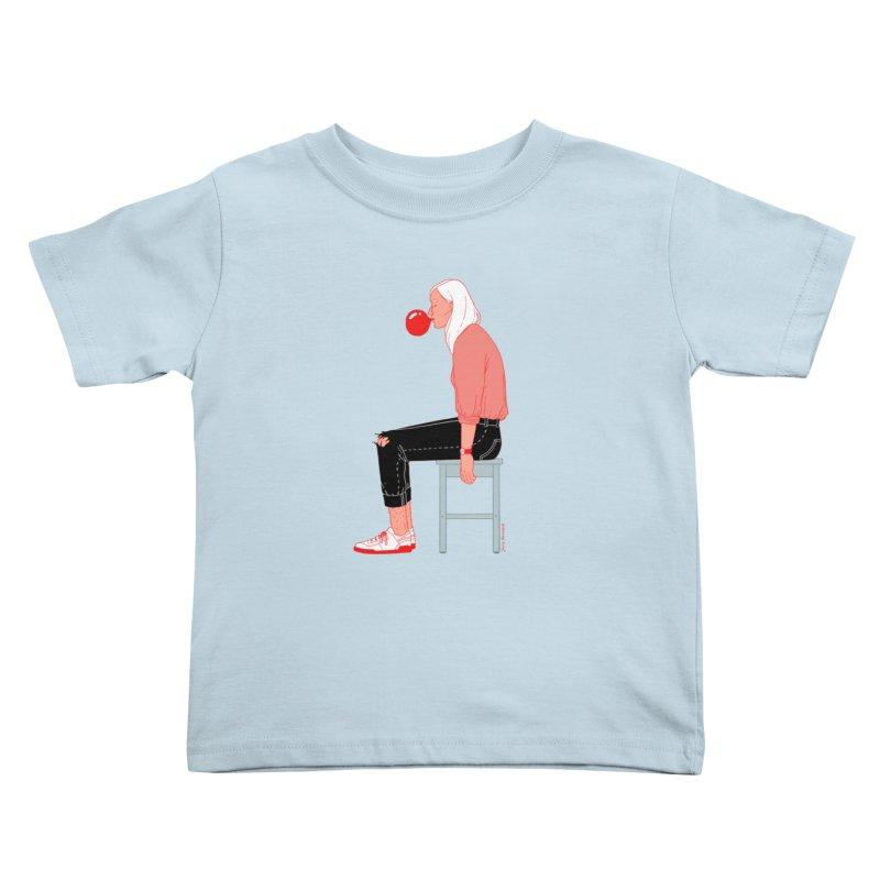 Bubblegum Girl Kids Toddler T-Shirt by Julia Bernhard