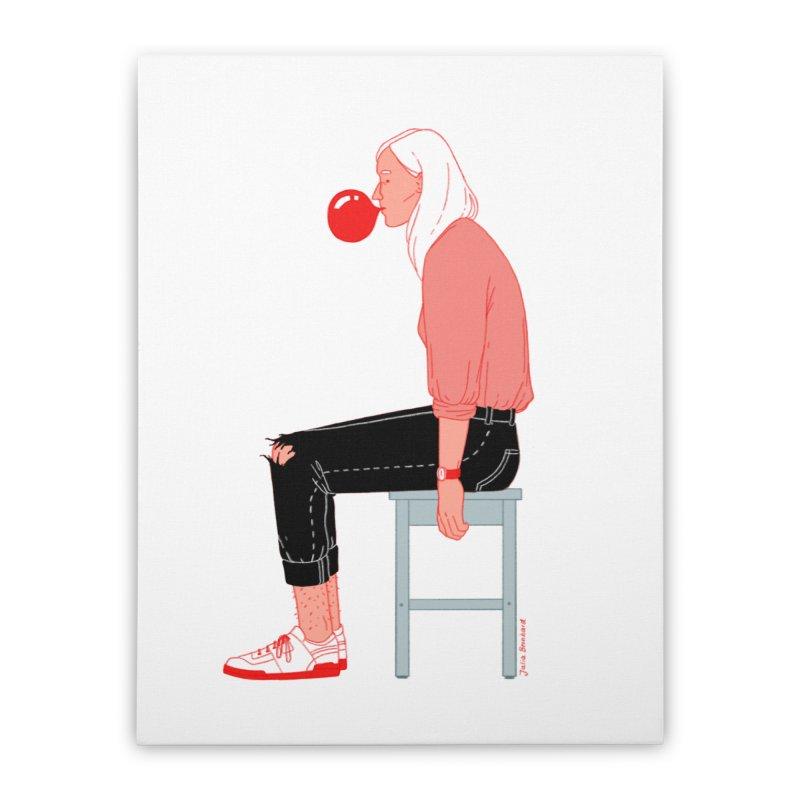 Bubblegum Girl Home Stretched Canvas by Julia Bernhard