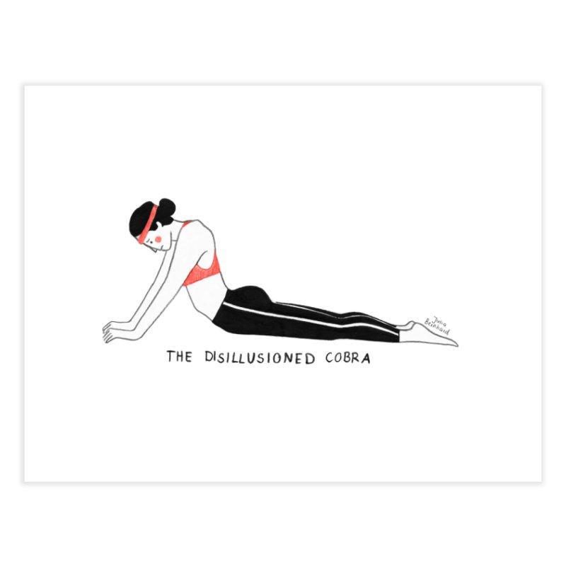 Yoga for sad people Home Fine Art Print by juliabernhard's Artist Shop