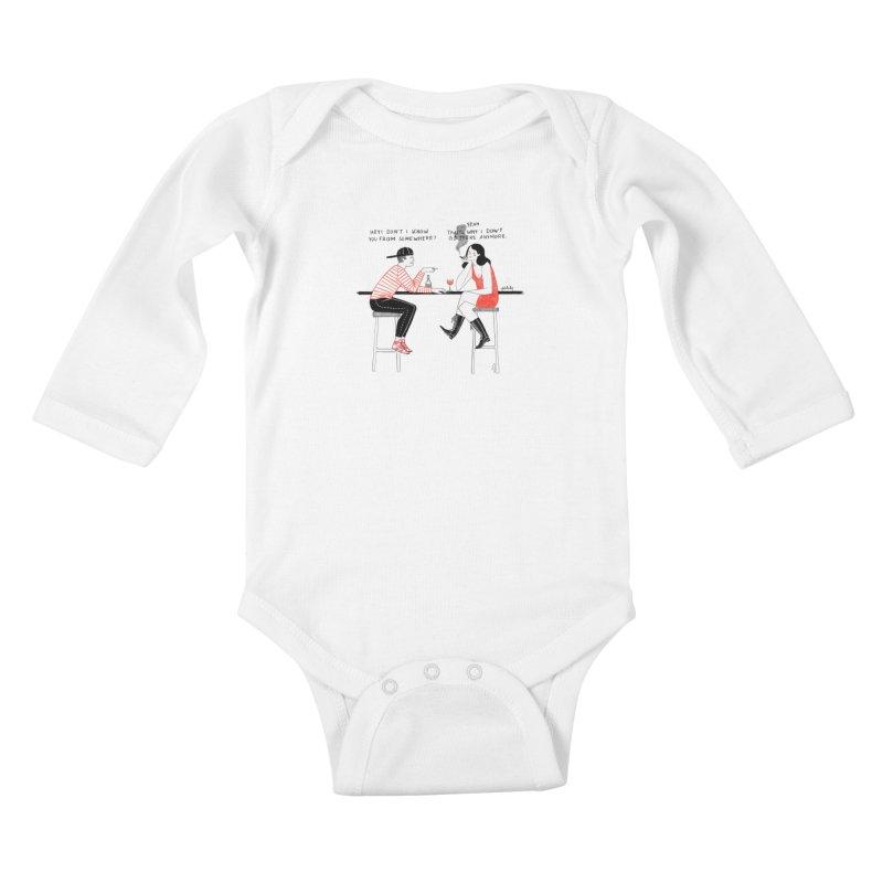 Friday Night Kids Baby Longsleeve Bodysuit by juliabernhard's Artist Shop
