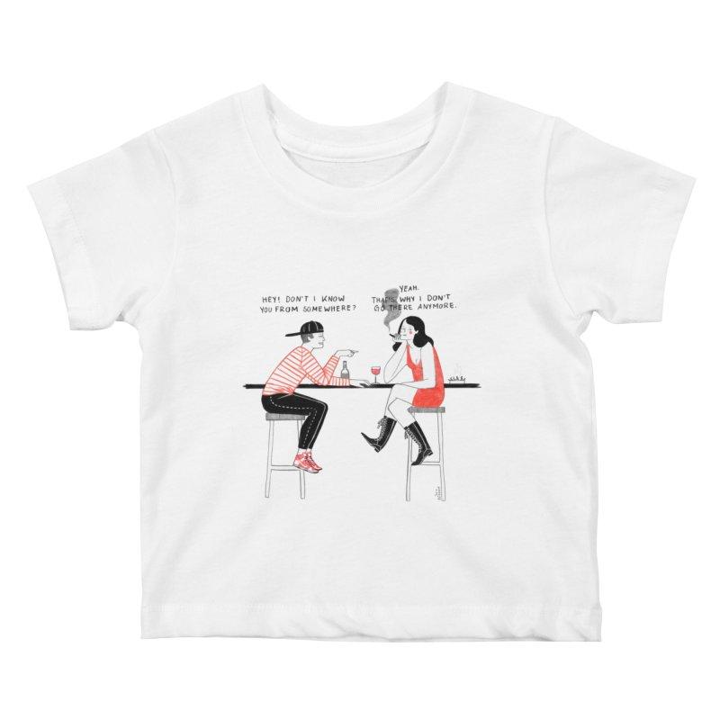 Friday Night Kids Baby T-Shirt by juliabernhard's Artist Shop