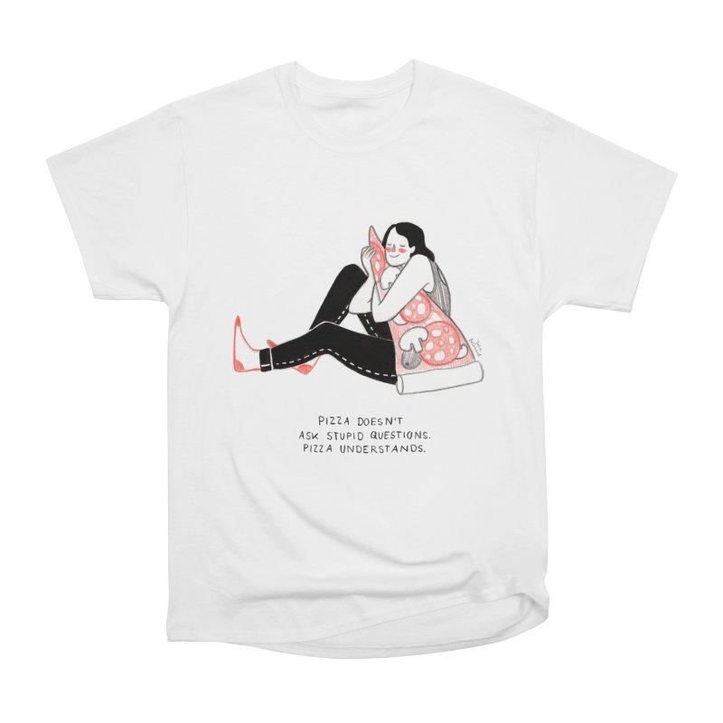 Pizza is Life Men's Heavyweight T-Shirt by juliabernhard's Artist Shop