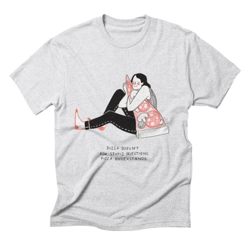 Pizza is Life Men's Triblend T-Shirt by juliabernhard's Artist Shop