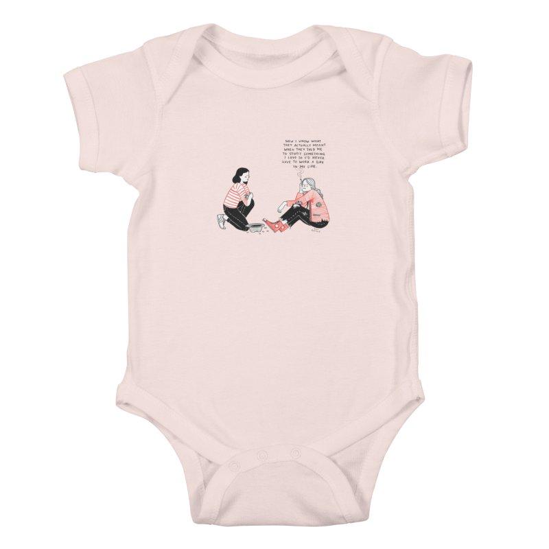 The Future is Bright Kids Baby Bodysuit by juliabernhard's Artist Shop