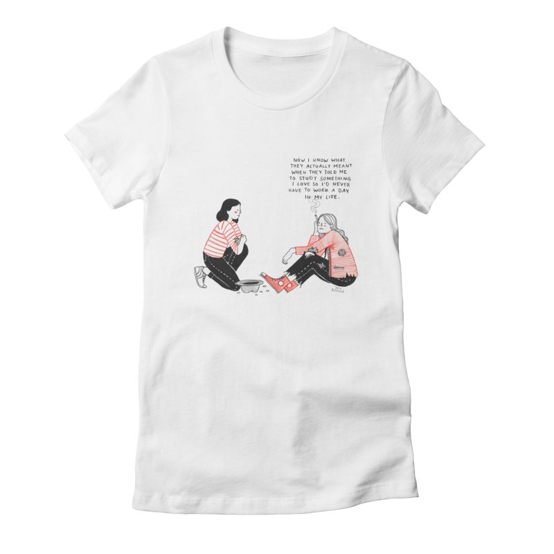 The Future is Bright Women's Fitted T-Shirt by juliabernhard's Artist Shop