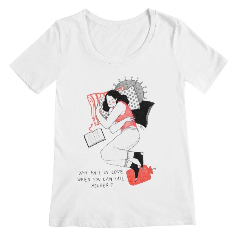 Why Fall in Love? Women's Scoopneck by juliabernhard's Artist Shop