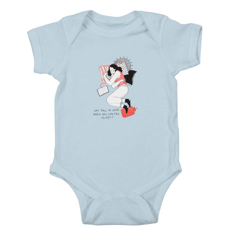 Why Fall in Love? Kids Baby Bodysuit by juliabernhard's Artist Shop