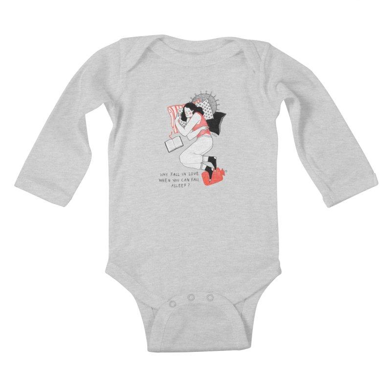 Why Fall in Love? Kids Baby Longsleeve Bodysuit by juliabernhard's Artist Shop