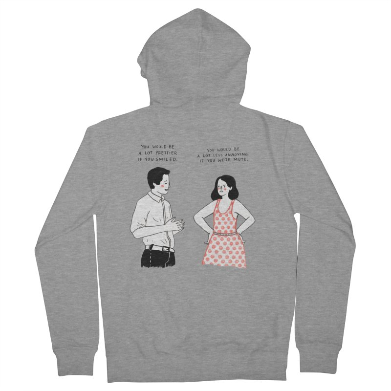 Smile! Women's French Terry Zip-Up Hoody by Julia Bernhard