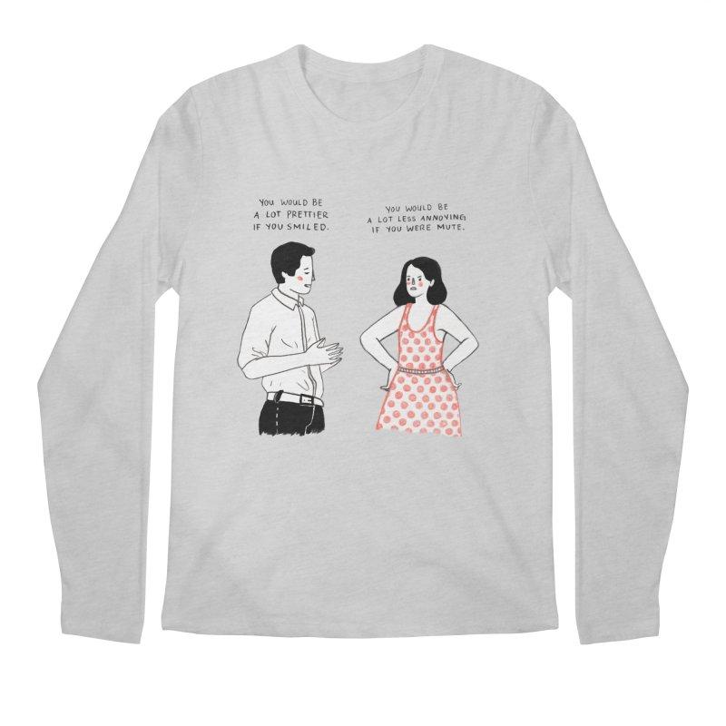Smile! Men's Regular Longsleeve T-Shirt by juliabernhard's Artist Shop
