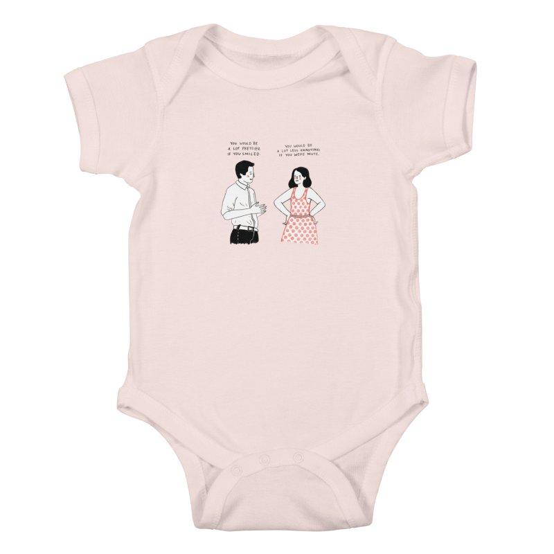 Smile! Kids Baby Bodysuit by juliabernhard's Artist Shop