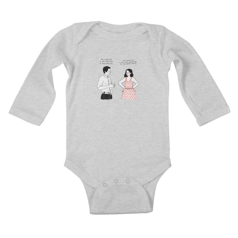 Smile! Kids Baby Longsleeve Bodysuit by Julia Bernhard