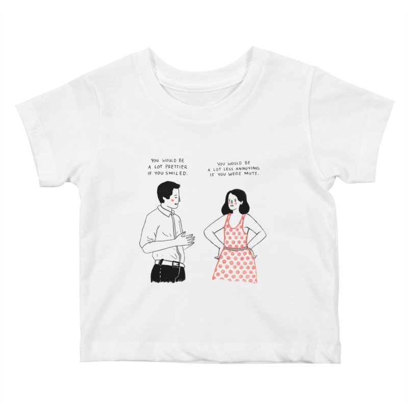 Smile! Kids Baby T-Shirt by juliabernhard's Artist Shop