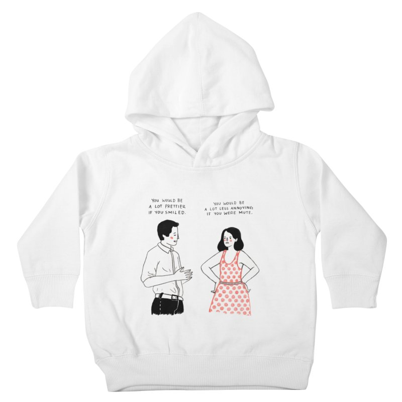 Smile! Kids Toddler Pullover Hoody by juliabernhard's Artist Shop