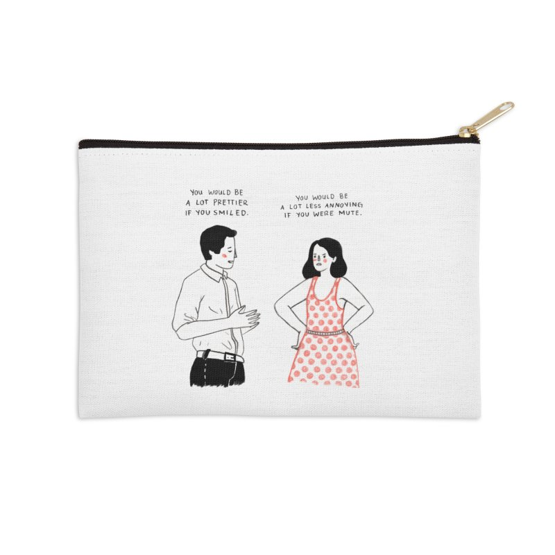 Smile! Accessories Zip Pouch by juliabernhard's Artist Shop