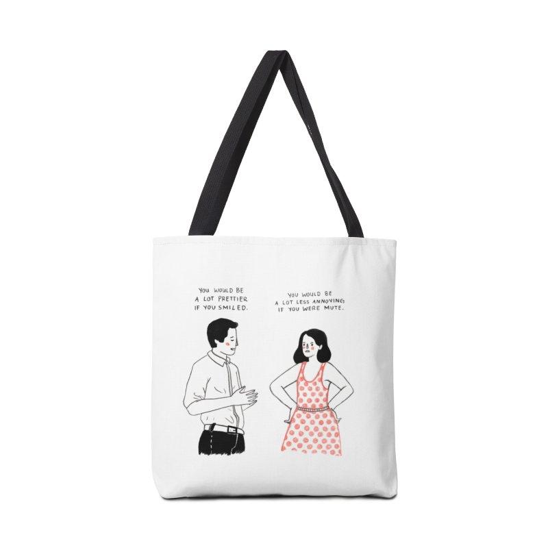 Smile! Accessories Bag by juliabernhard's Artist Shop