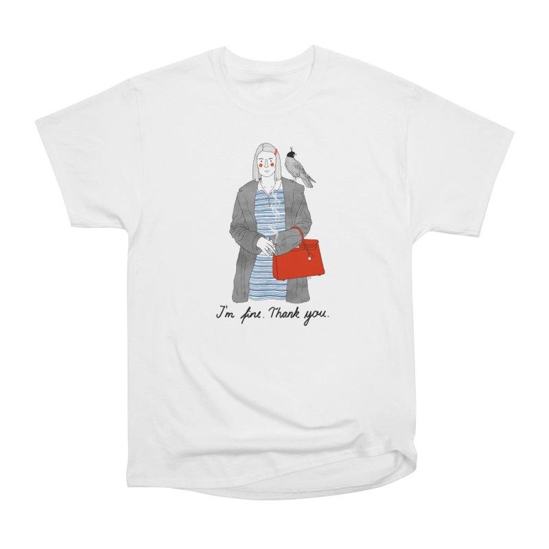 Margot Tenenbaum Men's Heavyweight T-Shirt by juliabernhard's Artist Shop
