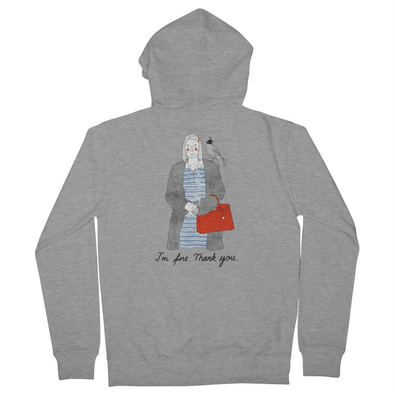 Margot Tenenbaum Men's French Terry Zip-Up Hoody by juliabernhard's Artist Shop