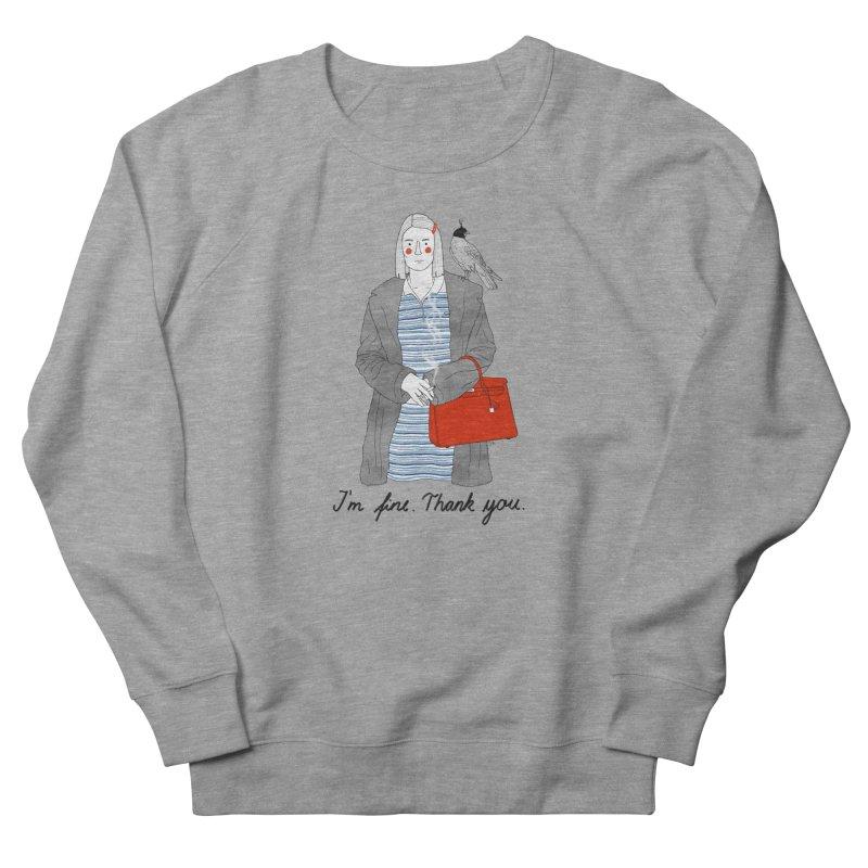 Margot Tenenbaum Men's French Terry Sweatshirt by juliabernhard's Artist Shop