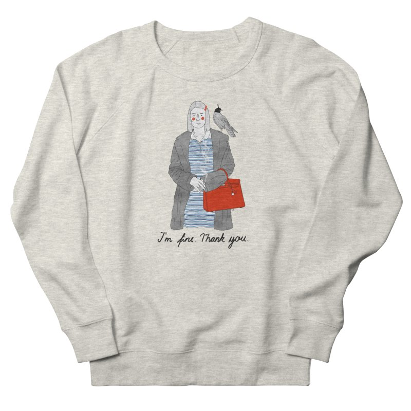 Margot Tenenbaum Men's French Terry Sweatshirt by Julia Bernhard