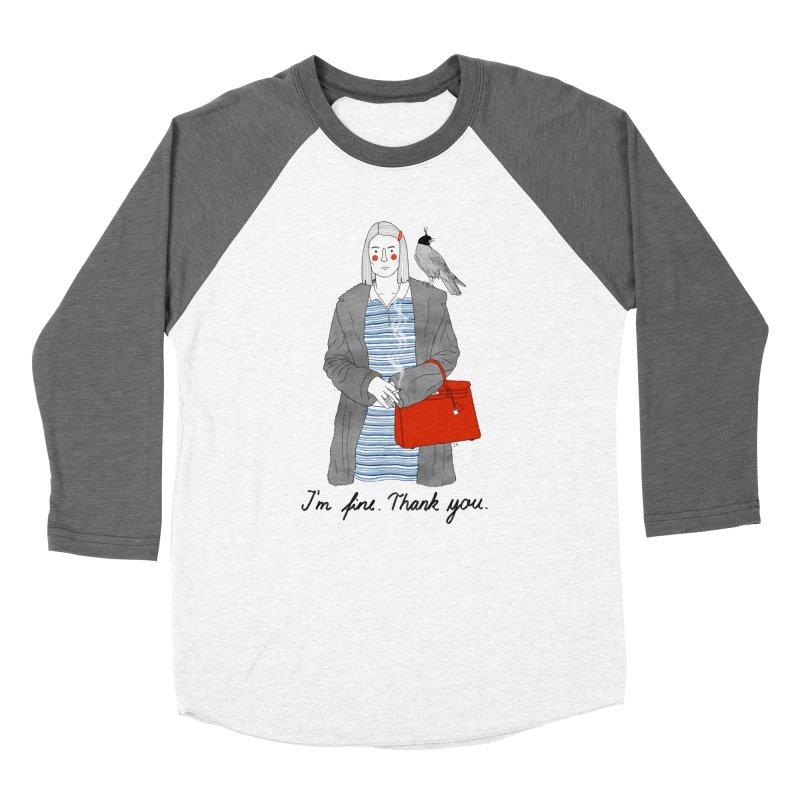 Margot Tenenbaum Men's Baseball Triblend Longsleeve T-Shirt by juliabernhard's Artist Shop