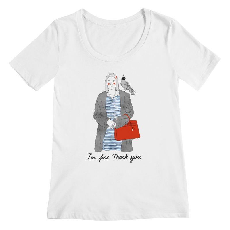 Margot Tenenbaum Women's Regular Scoop Neck by juliabernhard's Artist Shop