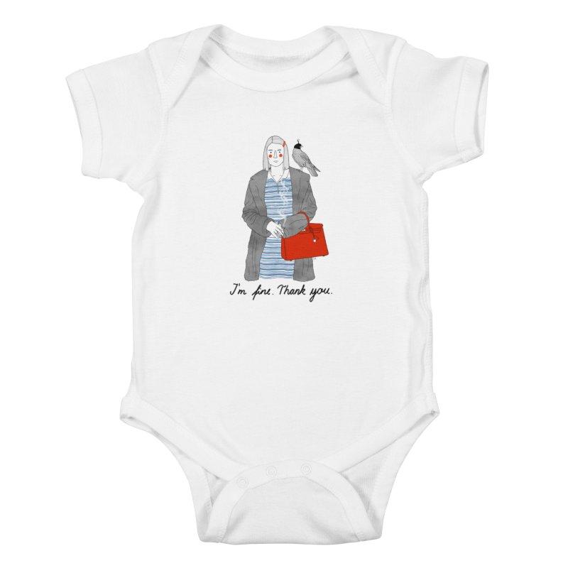Margot Tenenbaum Kids Baby Bodysuit by Julia Bernhard