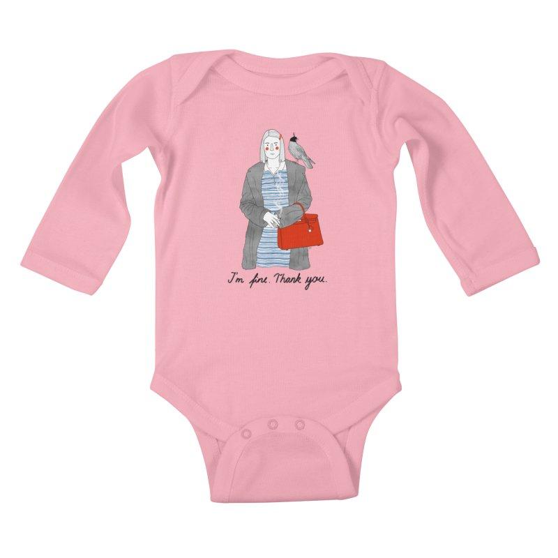 Margot Tenenbaum Kids Baby Longsleeve Bodysuit by Julia Bernhard