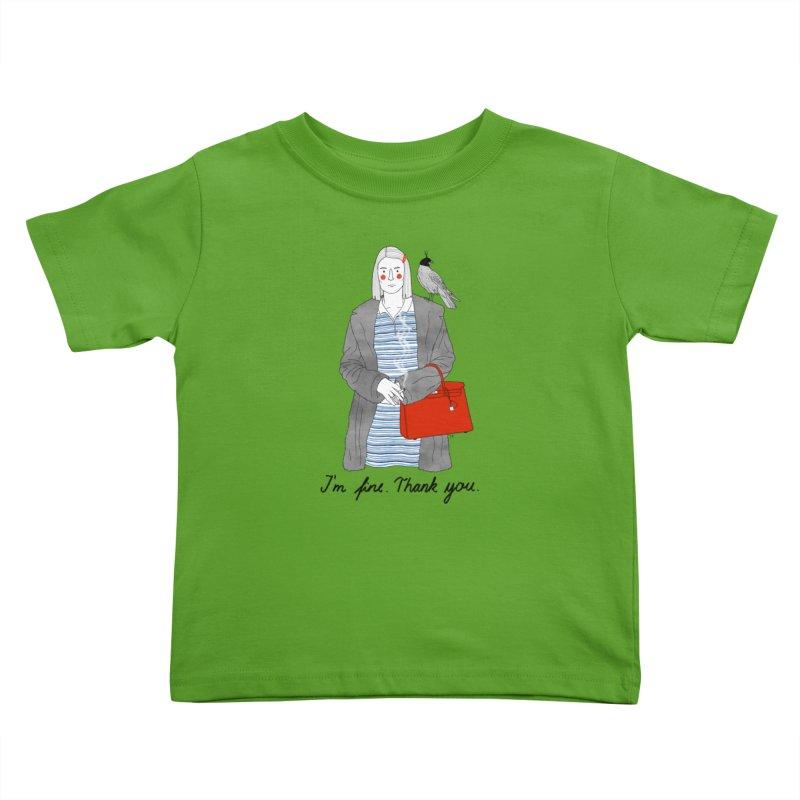 Margot Tenenbaum Kids Toddler T-Shirt by Julia Bernhard