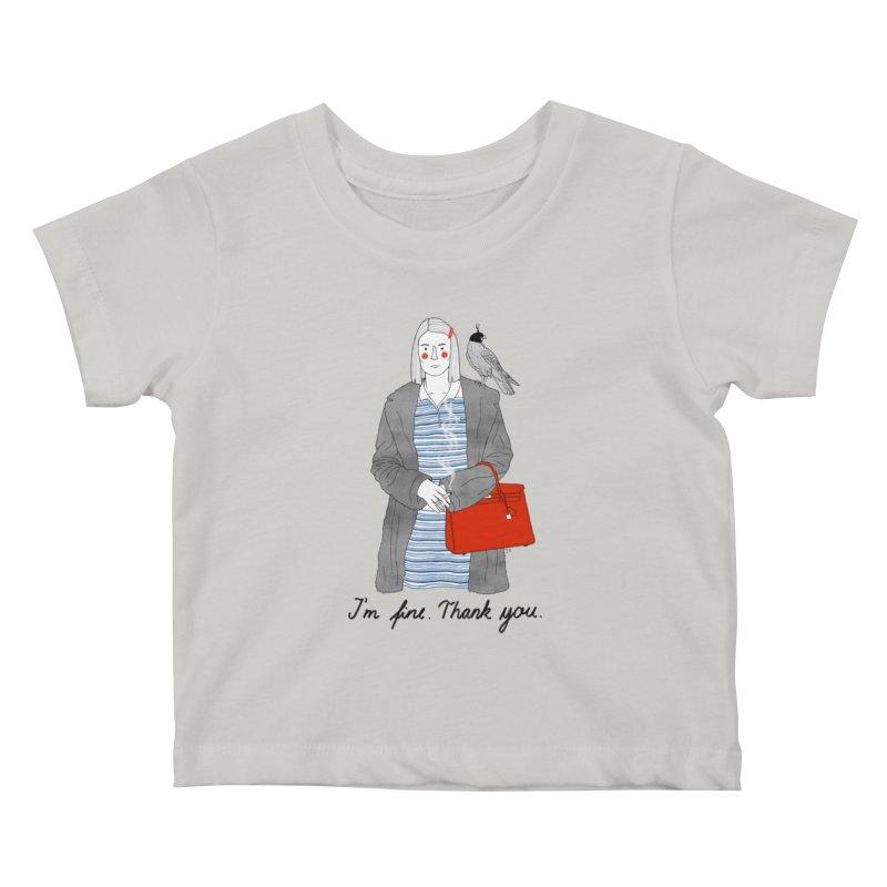 Margot Tenenbaum Kids Baby T-Shirt by juliabernhard's Artist Shop