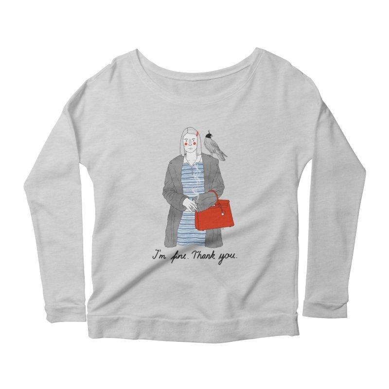Margot Tenenbaum Women's Scoop Neck Longsleeve T-Shirt by juliabernhard's Artist Shop