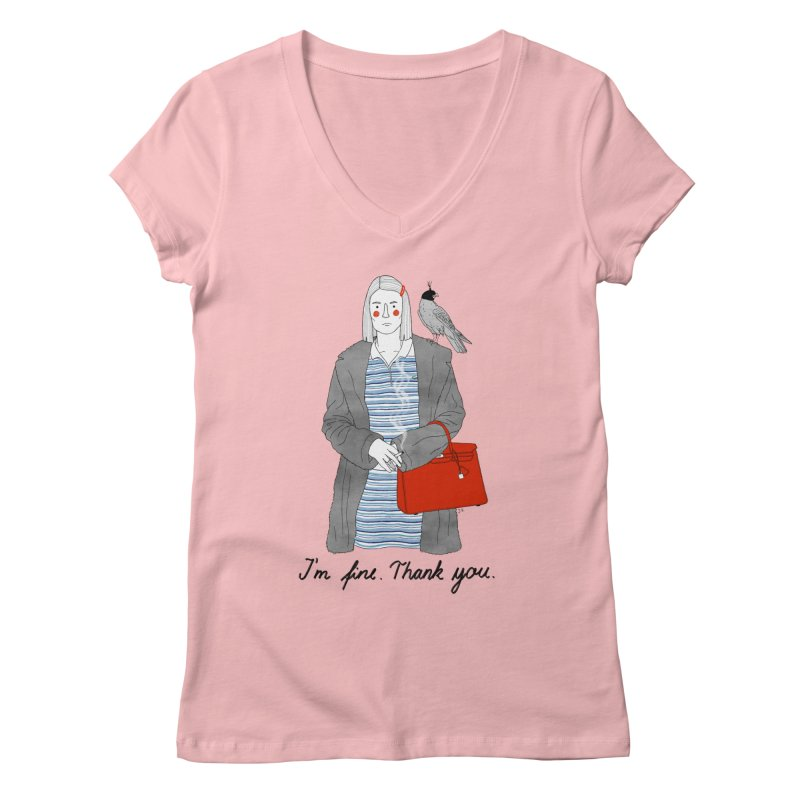 Margot Tenenbaum Women's Regular V-Neck by juliabernhard's Artist Shop